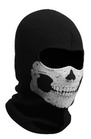 High Quality All Cotton Cycling Full Face Skull Mask Black Color Beanies