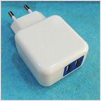 5V 2A  EU travel wall charger Carregador Dual USB port AC Power adapter universal for iphone ipad Samsung galaxy note HTC Nokia