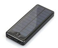 Dual USB Ports 15000mah Solar Panel Charger Power Pack Power Bank For iPhone Samsung Cell Phone Tablet  MP4 Camera 50PCS