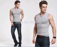 Men's Vest ,breathable Tank Top,100% Cotton stretchable Underwaist red black white grey colors plus size