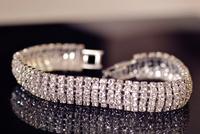 2014 new Korean fashion wild retro romantic sweet personality temperament six rows of luxurious multi-square Bracelet  S6037
