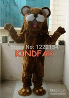 Hot sale 2014 Adult Professional Big Face Teddy Bear Mascot Costume Adult Fancy Dress Cartoon Party Suit