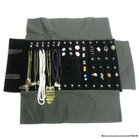 For Necklace Chain Accessories Storage Pouch Super Jewelry Display Rolls Travel Black Portable Organizer Bracelete Bag Folding