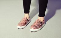 Fashion Leisure flat women shoes soft unisex shoes crocodile skin printing comfortable