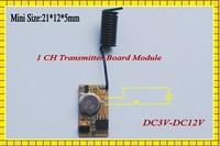EV1527 Transmitter Module RF Remote Controller PCB DC3V-12V  3.7V 4.5V 5V 6V 7.2V 9V Mini Micro Remote Control 1CH 315/433MHz
