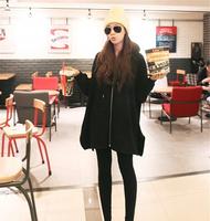 2014 New Women Free shipping T shirt Tops Irregular Zipper Tee Hooded Long Sleeve Loose Hoody Basic Pure Coat Grey