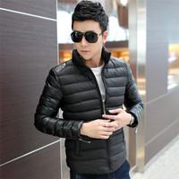 Mens Jackets And Coats Casual Down Man Winter Jacket jaqueta Masculina Spring 2014 Jackets For Men Sportswear Brand Clothing