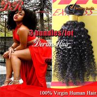 Brazilian Kinky Curly virgin hair 3pcs unprocessed human Hair Bundle extension Brazilian Human Hair Weave Natural Color 300g/lot