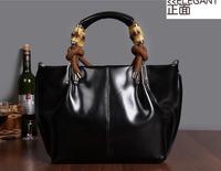 fashion 2014 women's genuine leather handbag 100% real leather causal designer brand bamboo tote nubuck shoulder bag