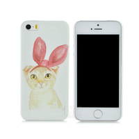 New style Cartoon cat rabbit Bunny Ears hard cover back cute phone case for iphone 5 5s