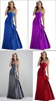 2014 Stock Taffeta Halter Cheap Bridesmaid Dresses Prom Party Gown Prom Dress vestido de festa longo 6 8 10 12 14 16