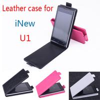 iNew U1 Vertical  Leather Moblie Phone PU Flip Case Cover For iNew U1 Smartphone