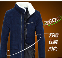 M-XXL Plus size 2015 Free shipping autumn\winter New Fashion mens casual outerwear jacket,Men's cotton-padded keep warm clothes