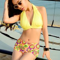 2014 sunny flower new swimsuit women brand swimwear halter-top inside pads sexy bikini swimwear manufacturers wholesale&retail