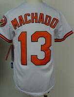 Cheap Sale,#13 Manny Machado Youth(kids) White 2014 New Orioles Baseball jerseys,Accept Mix Order wholesale Free shipping