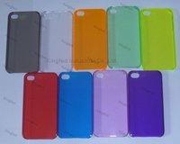 500pcs/Lot High Quality Premium PC Plastic Case Hard Cover for iPhone 4 4S