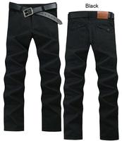 9 Color Men Fashion Casual Pants Slim Fit Straight Leg Long Business Trousers Big Size 28-38