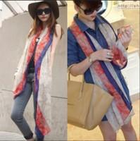 2014 Bohemian national trend of large-size women fashion scarf shawl scarf  2PCS/LOT free shipping