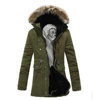 M-XXXL Plus size 2015 Free shipping autumn\winter New Fashion mens casual outerwear jacket,Men's cotton-padded keep warm clothes
