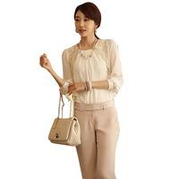 Hot sale 2014 Summer Women Silk Chiffon Blouse shirts WS1088 Free shipping