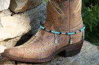 BB-023 60pc/lot free shipping  toggle buckle handmade beaded latest women guitar charm cheap boot bracelet