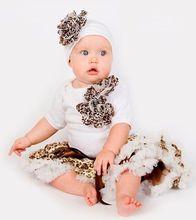 fast shipping newborn infants cheetah pettiskirt tutu white trim halloween new fashion coffee 2 layers toddlers cute clothing(China (Mainland))