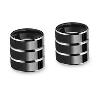 (6pcs/lot ) High Polish Black Tungsten Carbide Ring Comfort Fit Mens Jewelry Wedding Band,Size 6-9 Free Shipping TU057R_W