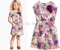 freeshipping!Wholesale 2014 newest Brand Kids Baby Girls Princess dress shivering children flower dress 6pcs/lot