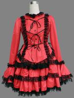 Girl Maid uniform Cosplay lolita Costume women black Dress custom Free Shipping