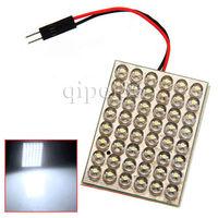 48 SMD LED Light Panel White Interior Dome Festoon T10 BA9S Adapter Bulb Lamp
