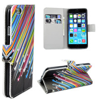"Meteor Print Leather Flip Wallet Star Folding Magnetic Stand Cover Case For 4.7""  iPhone 6"
