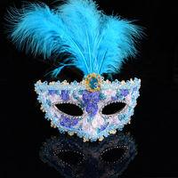 Fashion Halloween Feather Party phantom of the opera mask Wholesale 12pcs/lot Z13T2C