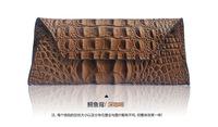 100% Genuine  Leather Women's Long Crocodile wallet Card Phone Holder  Purse clutch