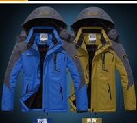Outdoor ski-wear female cotton-padded clothes sweethearts outfit mountaineering wear wool warm windbreaker