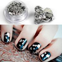 12 Pot Silver Foil Nail Art Decoration Set For Nail Art Acrylic System Nail Tips aluminum foil