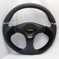 NEW  Leather+SUEDE Racing Sport Car Steering Wheel universal 13061  momo steering wheel with E36 hub/adapter / Boss Kit f