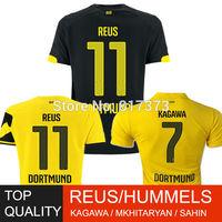 REUS HUMMELS 14 15 borussia dortmund soccer jersey 2015 third HOFMANN MKHITARYAN KAGAWA SAHIN BVB football shirt free shipping
