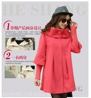 2014 2013 new fashion winter maternity windbreaker coat cloak cloth casual dress