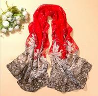 fashion pashmina women scarf 2014 new design long shawl cape silk chiffon tippet muffler echarpes Scarves 2PCS/LOT