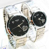 Couple brand watch,lovers's Stainless steel watch/quartz wristwatch,longtime walking F077