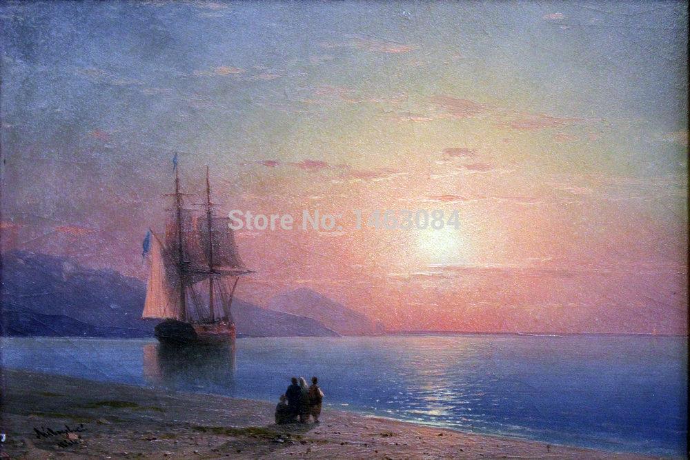 Sailing Boat Sunset Drawing Sunset Sailing Boat Canvas