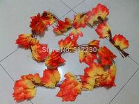 10x Artificial Maple Leaf Garland Silk Autumn Fall Leaves Wedding Garden Decor