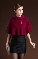 new fashion women winter short sexy skirt mink cashmere poncho lady fashion pashmina warm fur coat outwear free shipping 2014