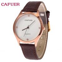 CAFUER Brand Women Quartz Watch Women Military Movement Genuine Leather Watch Business Watch