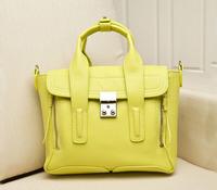 High Quality 2014 Fashion Famous Brand Flap Bag With Zipper Messenger Bags Genuine Leather Vintage Handbag Ladies Shouder Bag s