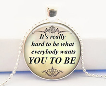 Demi Lovato Quote Necklace Song Lyrics Love – Music Jewelry – Quote Word Pendant necklace