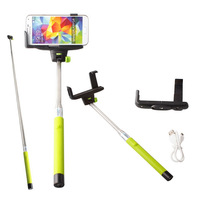 Free shipping Extendable Self Portrait Selfie Handheld Stick Monopod Tripod With cellphone Adjustable Clip Holder for iPhone