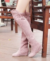 free shipping Winter princess boots round toe high-heeled long-barreled boots elevator boots
