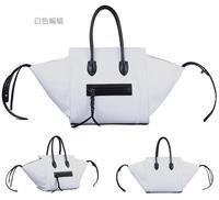 Illusiveness 2014 fashion bag smiley bag cowhide bag genuine leather women's handbag