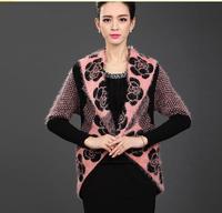 new autumn and winter 2014 women's knit cardigan jacket loose big yards cloak cape